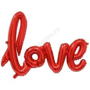 """Надпись прописью """"Love"""" , Красный, 104см"""