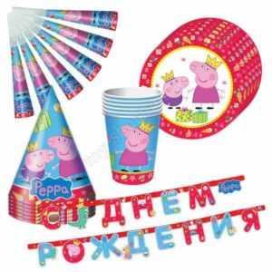 Подарочный набор посуды, Пеппа-принцесса, 25 предметов