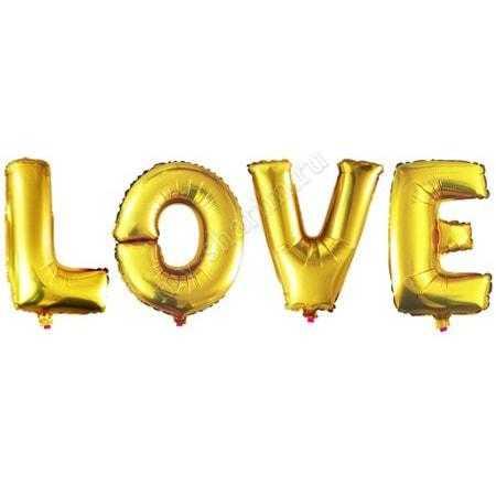 """Набор шаров-букв , Надпись """"LOVE"""", 104см"""