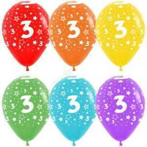 Цифра 3 (звезды) 30 см